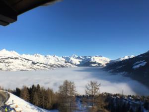 Vue du balcon sur le Mont Blanc